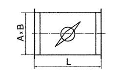 дроссель клапан прямоугольный